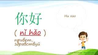 1. Говорим по-китайски: ''Привет, спасибо, не за что, до свидания''.