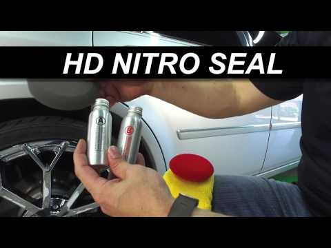 Auto Detailing with HD Nitro Seal wax and Palm Sander polish on silver automotive