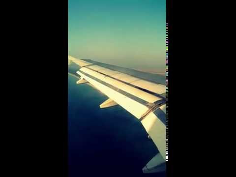 Landing in Enfidha airport Tunisia - Left wing view