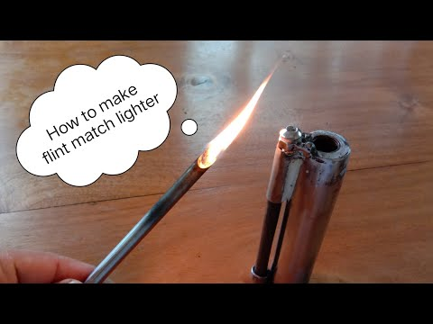 ไม้ขีดไฟเหล็กทำเอง How to flint match lighter