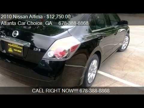 2010 Nissan Altima 25 S Black For Sale In Marietta Ga 30 Youtube