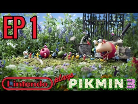 Lets Play Pikmin 3 - Part 1 - Into the Unknown! (Commentary)
