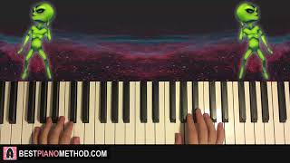 HOW TO PLAY - La Cumbia del Marcianito 100% Real (Piano Tutorial Lesson)