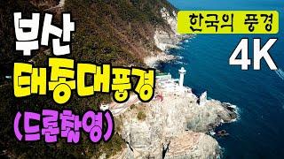 부산 태종대 풍경  - 드론촬영, 환희의송가, 4k