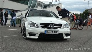 Mercedes C63 AMG revs & lovely sound 1080p