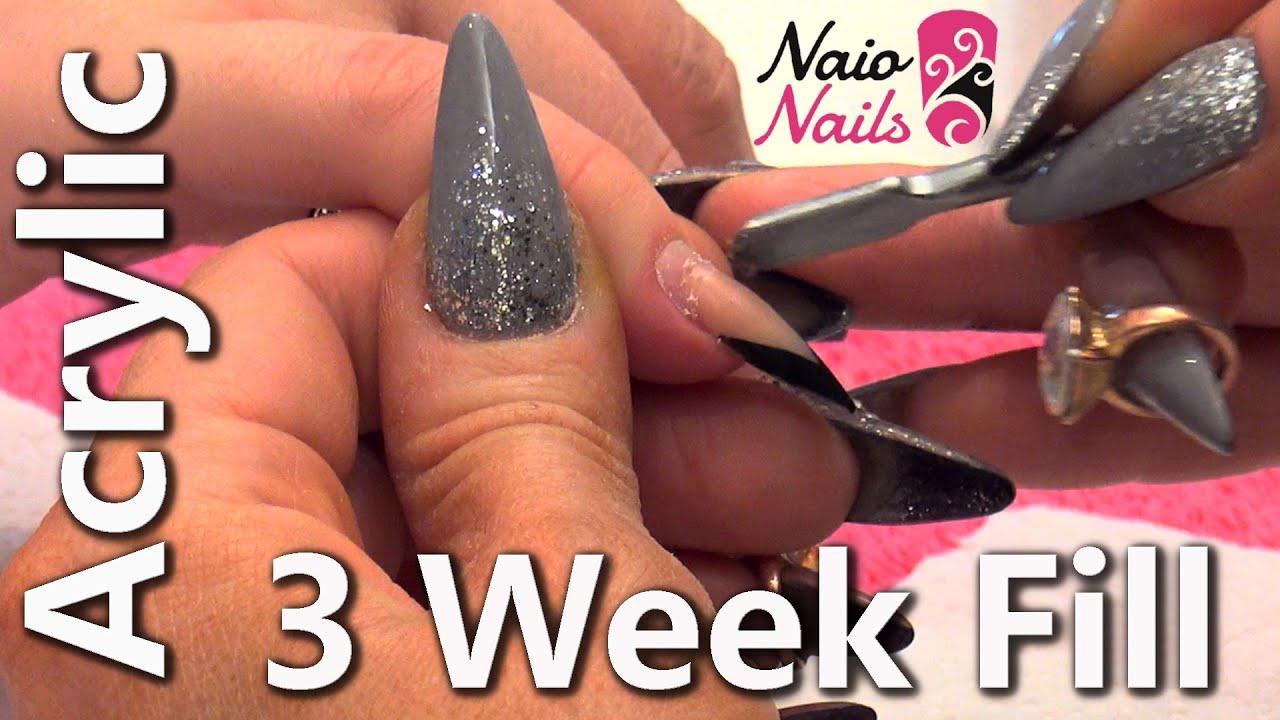 Acrylic Nail Infill - YouTube