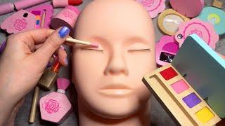 ASMR Wooden Makeup on Mannequin (Whispered) #2