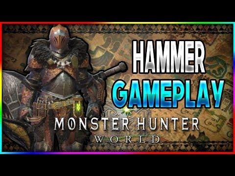 Monster Hunter World Demo -SO MUCH STUN DAMAGE! - Hammer Gameplay (PS4 Pro)