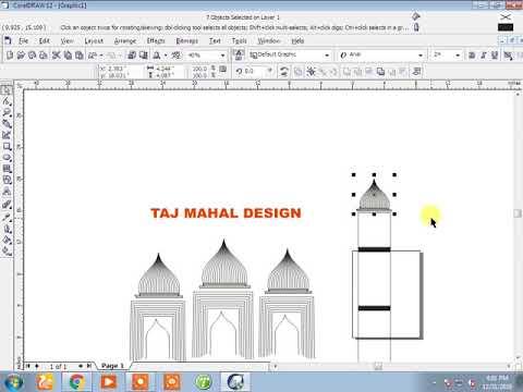 Taj Mahal Design Corel Draw