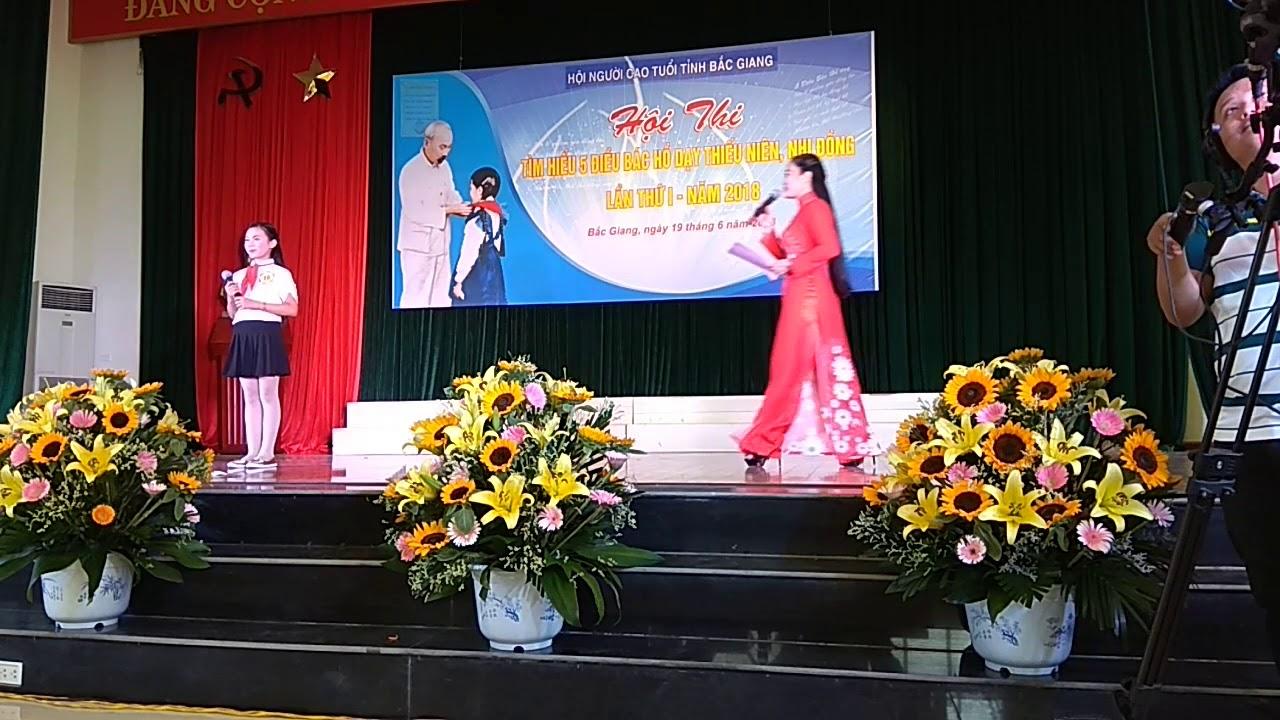 Tìm hiểu 5 điều Bác Hồ dạy TNNĐ (Hội thi tỉnh Bắc Giang năm 2018 - Hiệp Hòa  đạt giải B)