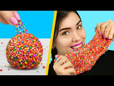 Adding Too Many Ingredients Into Slime! 8 Edible Candy Slime Pranks!