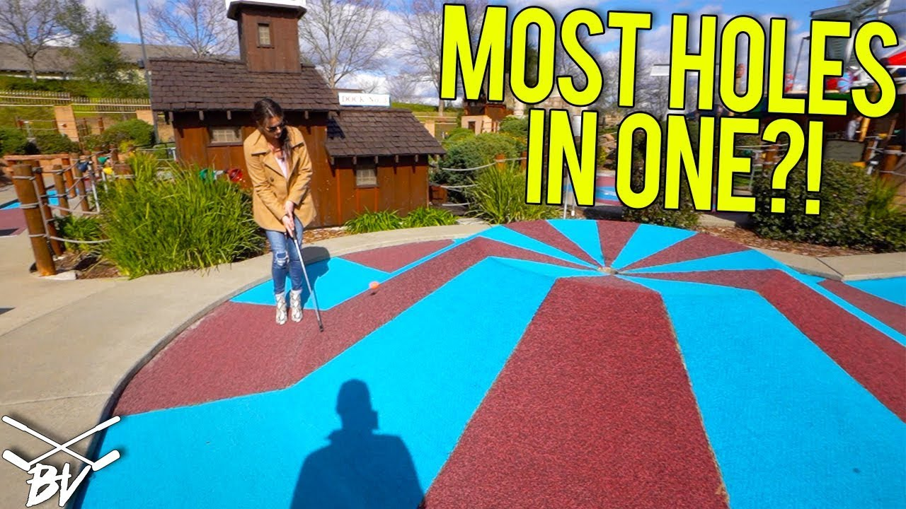 BREAKING OUR MINI GOLF HOLE IN ONE RECORD!