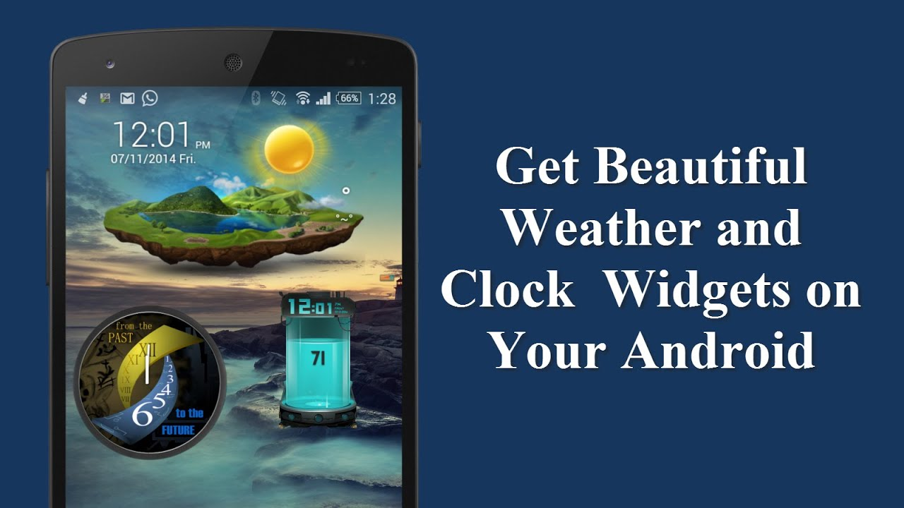 Get Beautiful Weather and Clock Widgets on Your Android ...