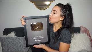 IT'S HERE!! 100k Play Button Unboxing!
