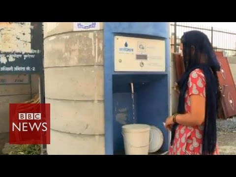 Water ATMs bring clean water to Delhi - BBC News