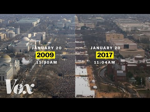 Barack Obama vs. Donald Trump: inaugural crowds | Vox