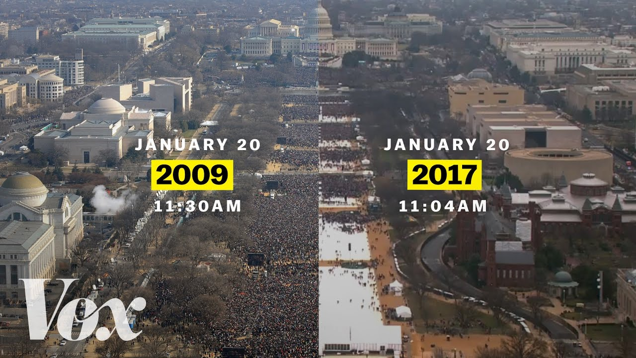 Barack Obama vs. Donald Trump: inaugural crowds - YouTube