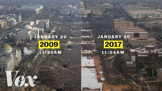 Barack Obama vs. Donald Trump: inaugural crowds
