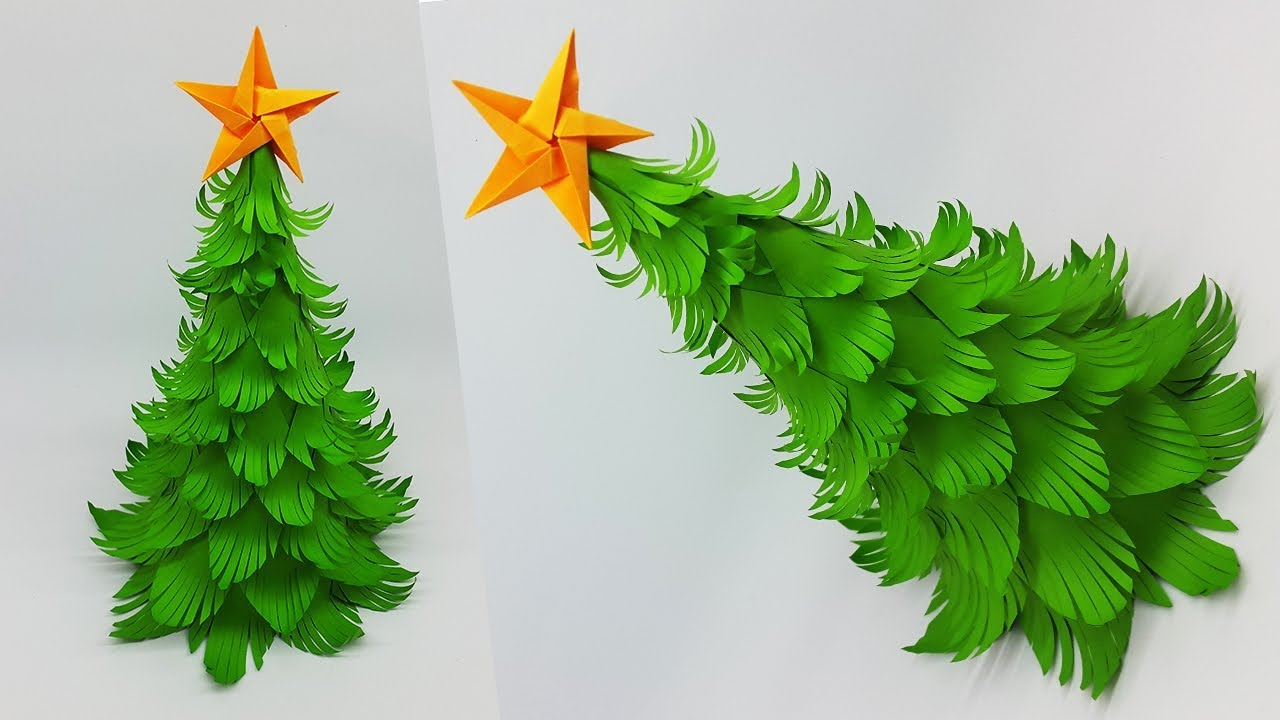 Diy Paper Christmas Tree How To Make A 3d Christmas Tree Crafts Tutorial Youtube