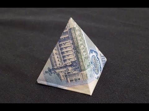 Оригами из денег платье из купюры