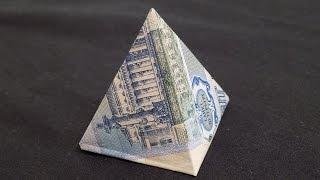 оригами из денег пирамида из купюры