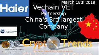 VET Vechain partners with China's 3rd largest company.