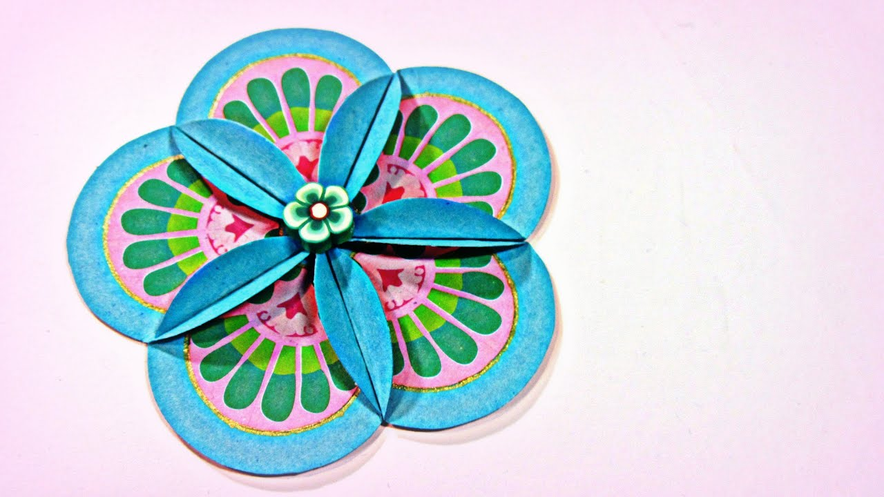 How to scrapbook flowers - C Mo Hacer Flores Scrapbooking How To Make Scrapbooking Flowers