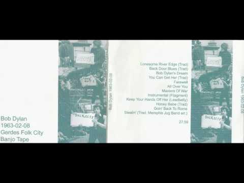 BOB DYLAN - GEREDES FOLK CITY, 8.2.1963, BANJO TAPE