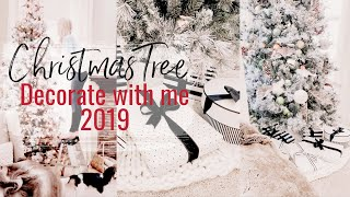 DECORATE MY CHRISTMAS TREE WITH ME 2019 | NEUTRAL CHRISTMAS DECOR