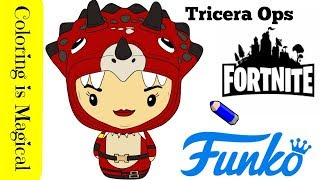 Funko Pint Size Heroes: Fortnite Tricera Ops Skins coloring page Video Game fortnite