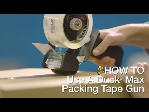 How To Use Your Duck Max Packing Tape Gun