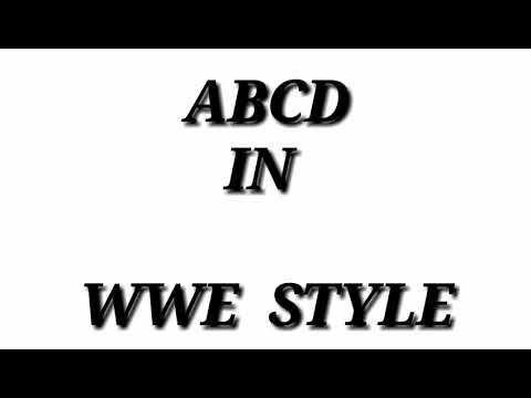 ABCD IN WWE STYLE//LUNATIC TV//WWE