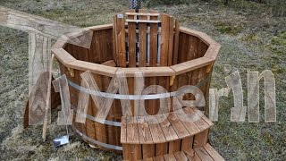 Wooden hot tubs Deluxe - Siberian spruce, larch or thermo wood - TimberIN