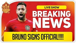 Bruno Fernandes SIGNS For Man Utd! Man Utd Transfer News