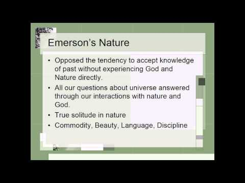 Transcendentalism - Emerson and Thoreau