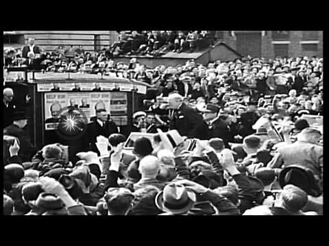 Leader of the British Labor Party Clement Attlee defeats leader of Conservative P...HD Stock Footage