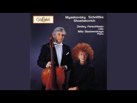 Sonata for Cello and Piano in D Minor, Op. 40: IV. Allegro