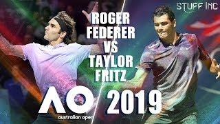Federer vs Fritz Australian Open 2019