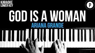 Ariana Grande - God Iṡ A Woman Karaoke SLOWER Acoustic Piano Instrumental Cover Lyrics LOWER KEY