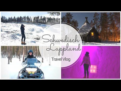 SCHWEDISCH LAPPLAND - Snowmobil Safari, Fika & Iglu Hotel I Travel Vlog