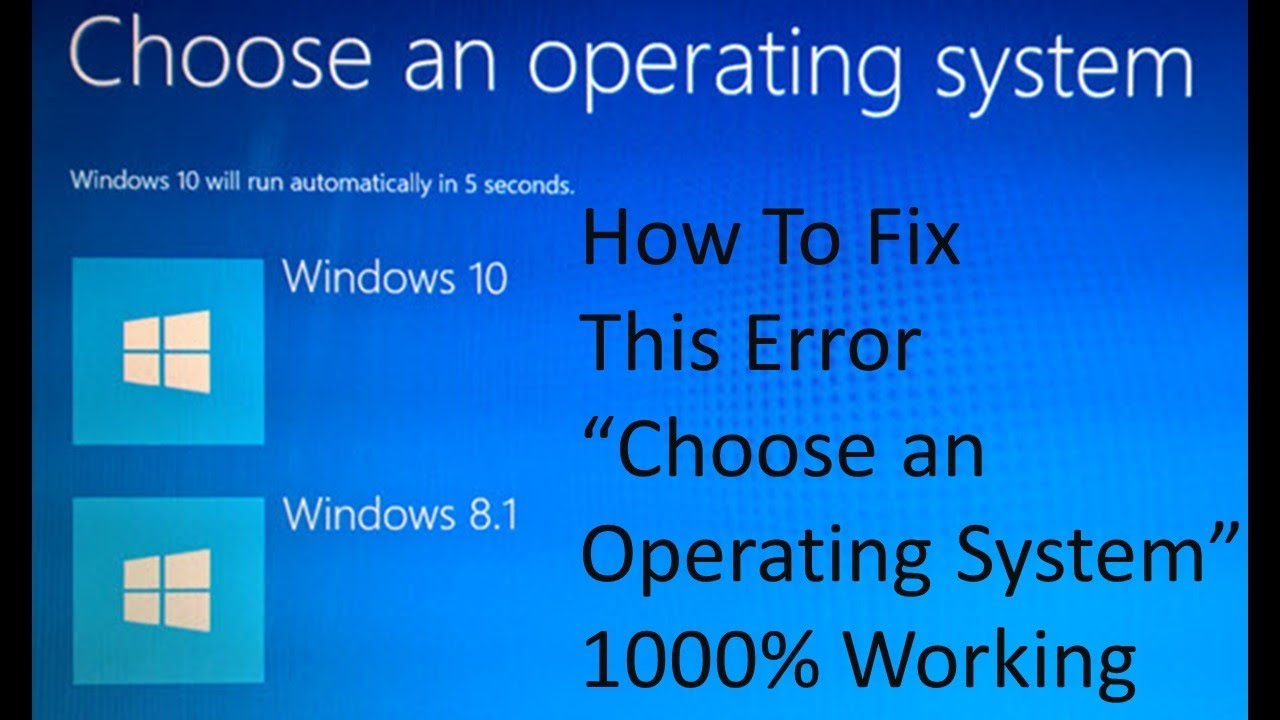 choose an operating system windows 10