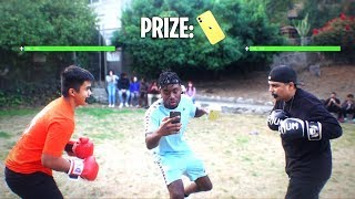 Download I Setup a Boxing Tournament for the iPhone 11 at School! HE GOT KNOCKED OUT!?! Mp3 and Videos