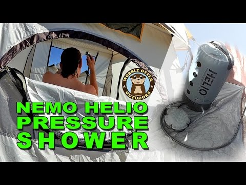 Showering In The Desert - Using The Helio Pressure Shower In Camp