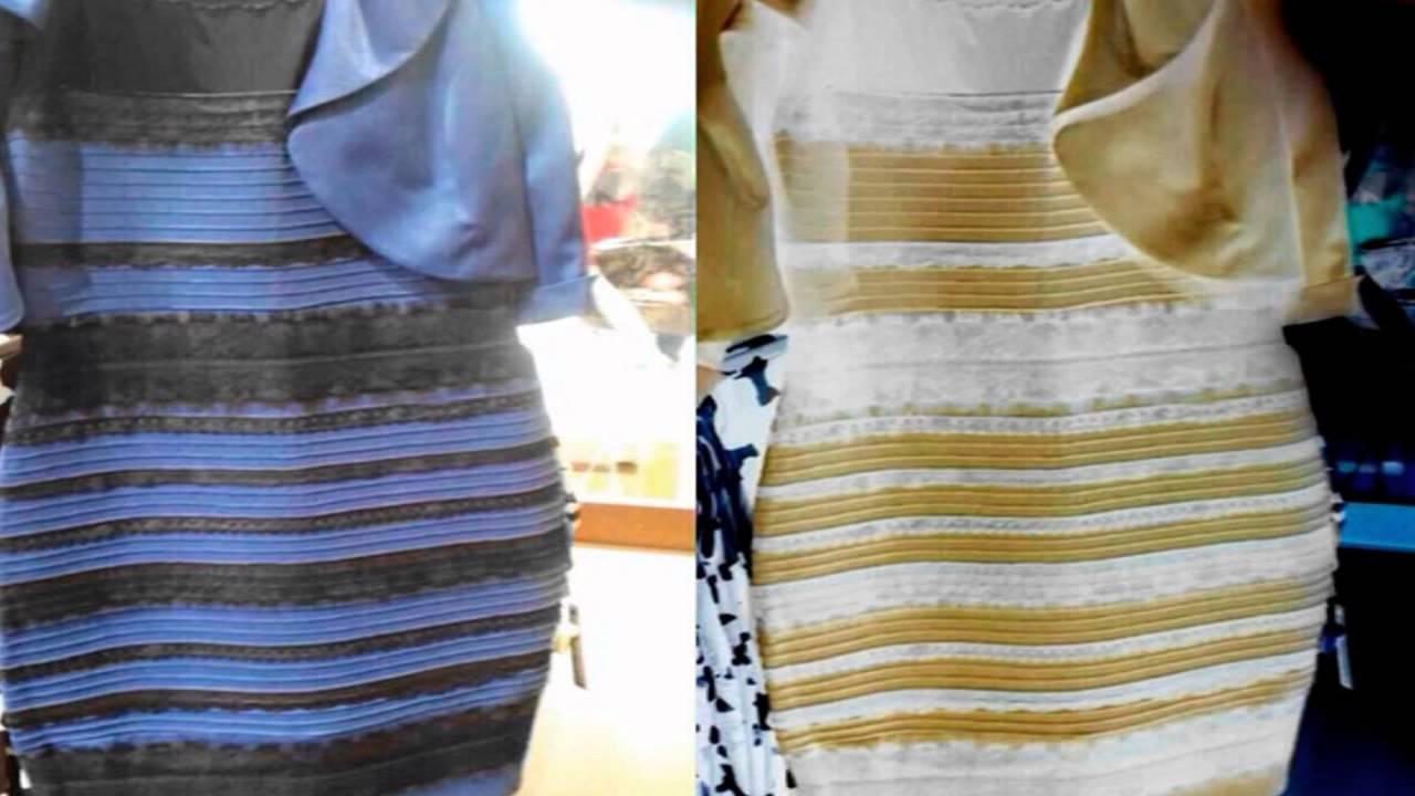De Que Color Ves Este Vestido Thedress Youtube