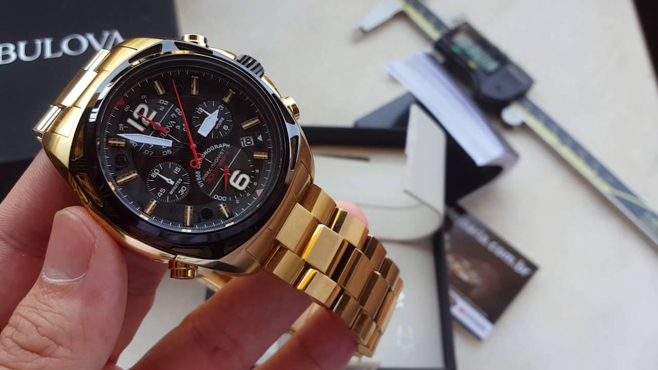 be1aa0ac7e2 Relógio Bulova 98b238 único no mundo a marcar um milésimo de segundo na  altarelojoaria