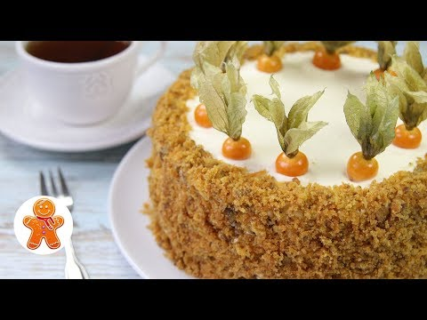 Видео: МОРКОВНЫЙ ТОРТ ✧ Простой, Сочный и Очень Вкусный ✧ Carrot cake