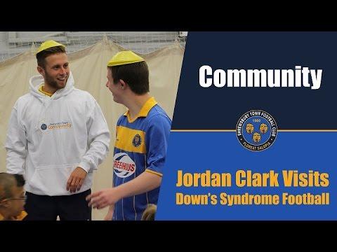 COMMUNITY | Jordan Clark Visits Down's Syndrome Football