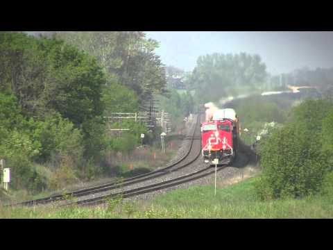 Newtonville Ontario GE ES44DC eastbound snaking on the kingston sub