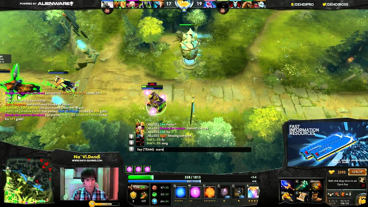 dota 2 stream by na vi dendi may 21st 2013 youtube