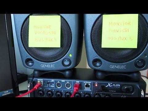 MESA BEHRINGER X-AIR XR18 - ENVÍOS A MONITORES de los músicos a través de los BUSES AUXILIARES